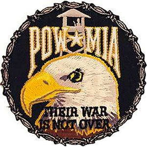 Eagle Emblems PM0031 Patch-Powmia,Their WAR 3 inch