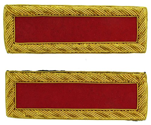 2LT Reproduction ARTILLERY Officer Civil War Shoulder Board Rank for Reenactors