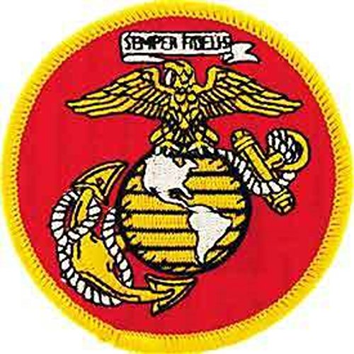 Eagle Emblems PM0005 Patch-USMC Logo,Globe and Anchor 3 inch