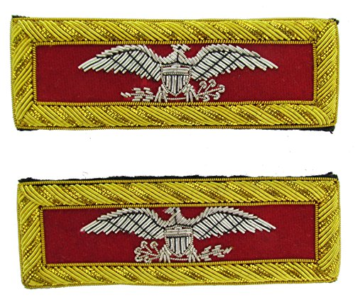 COLONEL Reproduction ARTILLERY Officer Civil War Shoulder Board Rank for Reenactors