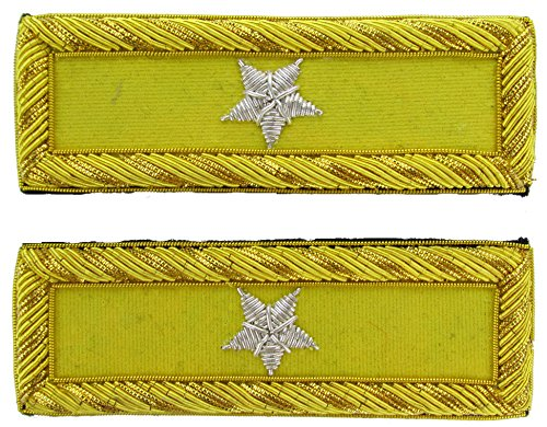 BRIG GENERAL Reproduction CAVALRY Officer Civil War Shoulder Board Rank for Reenactors