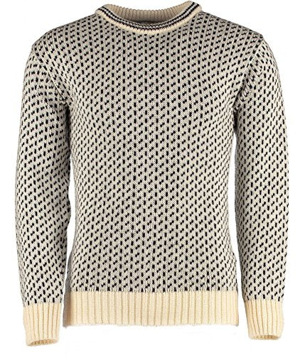 TW Kempton Dover Crew Neck Sweater - Classic Norwegian Pattern