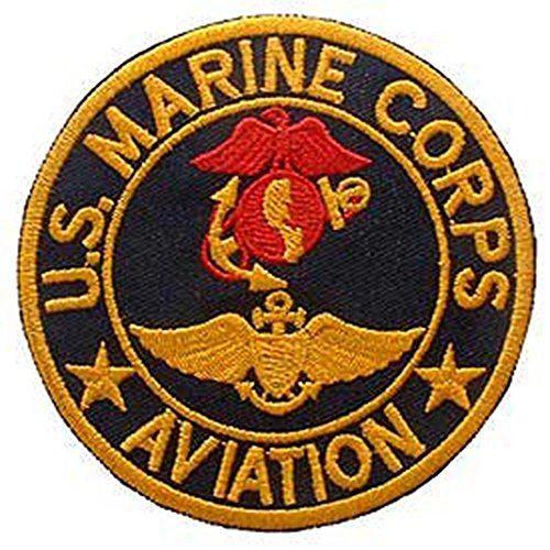 Eagle Emblems PM0182 Patch-Usmc,Aviation,(Usn) (Blk/Red/Gld) (3 inch)