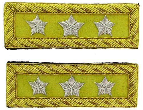 LT GENERAL Reproduction CAVALRY Officer Civil War Shoulder Board Rank for Reenactors