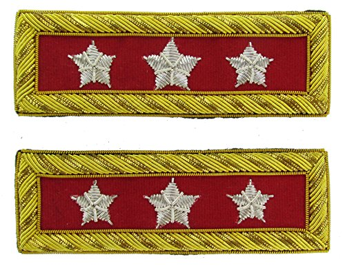LT GENERAL Reproduction ARTILLERY Officer Civil War Shoulder Board Rank for Reenactors