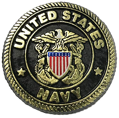 United States Navy Crest Small Round Magnet