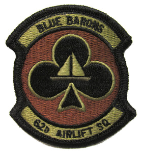 62nd Airlift Squadron OCP Patch - Spice Brown