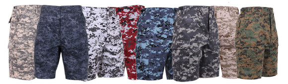 Rothco Digital Camo BDU Shorts - Various Colors