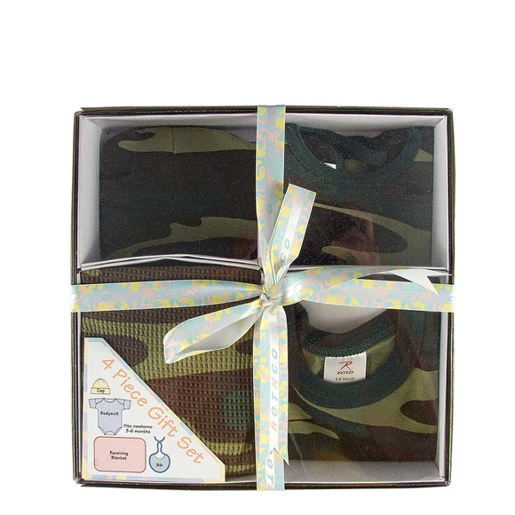 Rothco Infant 4 Piece Camo Boxed Gift Set Woodland Camo