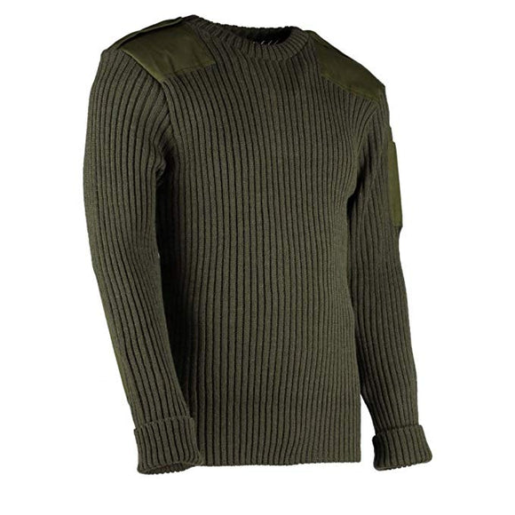 Woolly Pully CREW Neck Sweater with Epaulets and Pen Pocket - Various Colors