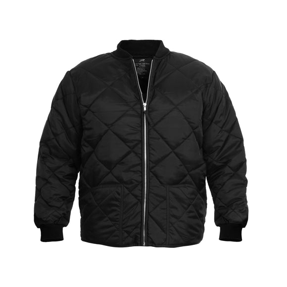 Diamond Nylon Quilted Flight Jacket