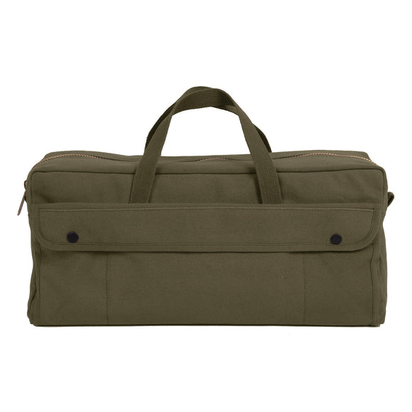 Rothco Canvas Jumbo Tool Bag With Brass Zipper Olive Drab