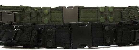 Military Uniform Supply Tactical Duty Belt - Various Colors