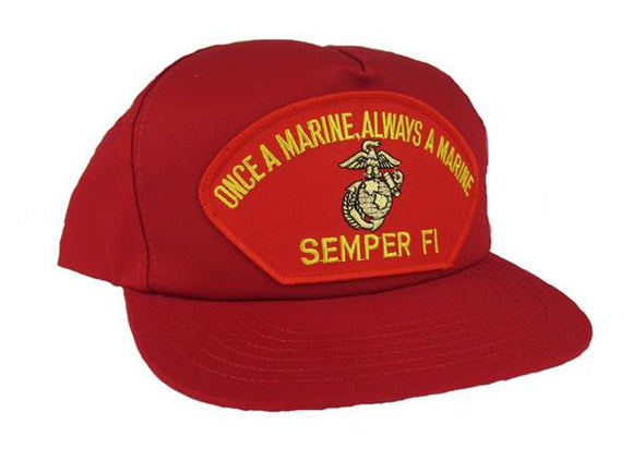 Once A Marine, Always A Marine Semper Fi Ball Cap