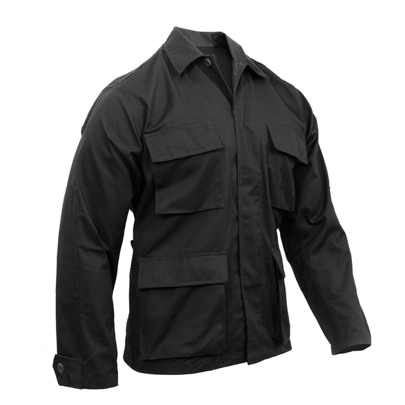Rothco Poly/Cotton Twill Solid BDU Shirts Black