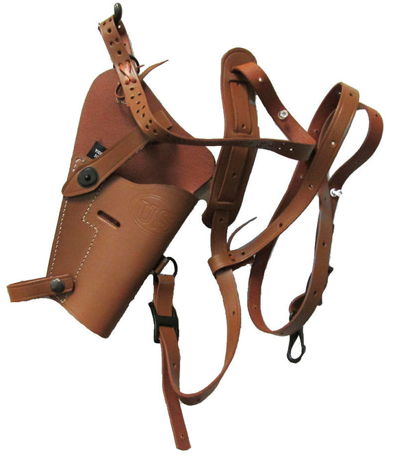 Replica WWII Era U.S. M7 Leather Shoulder Holster - Brown