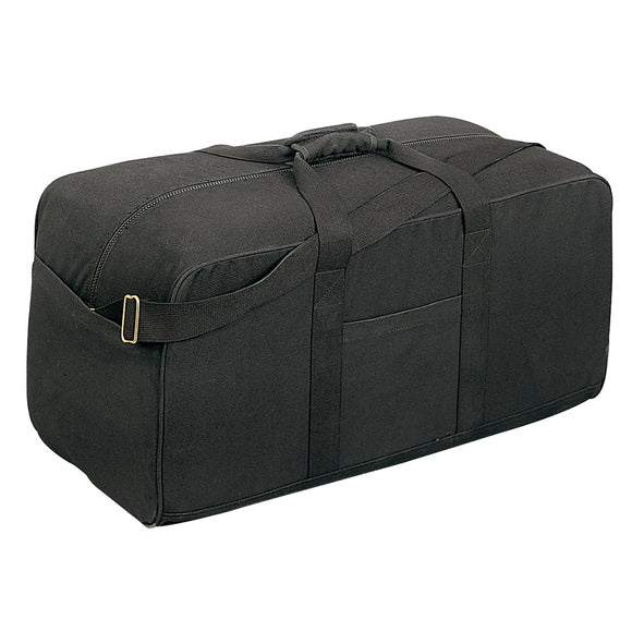 Rothco Canvas Assault Cargo Bag - Black