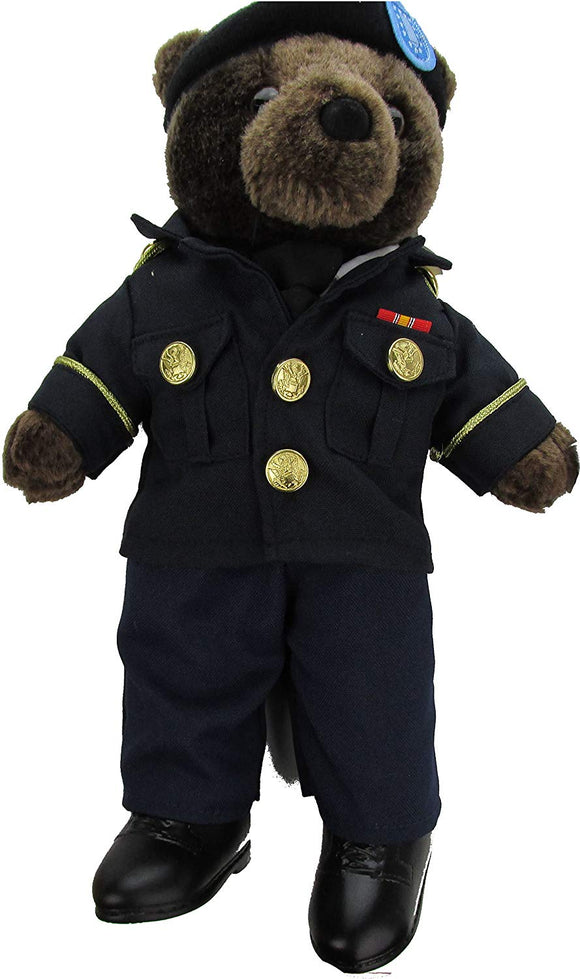 Military Stuffed Plush Teddy Bear in U.S. Coast Guard Uniform