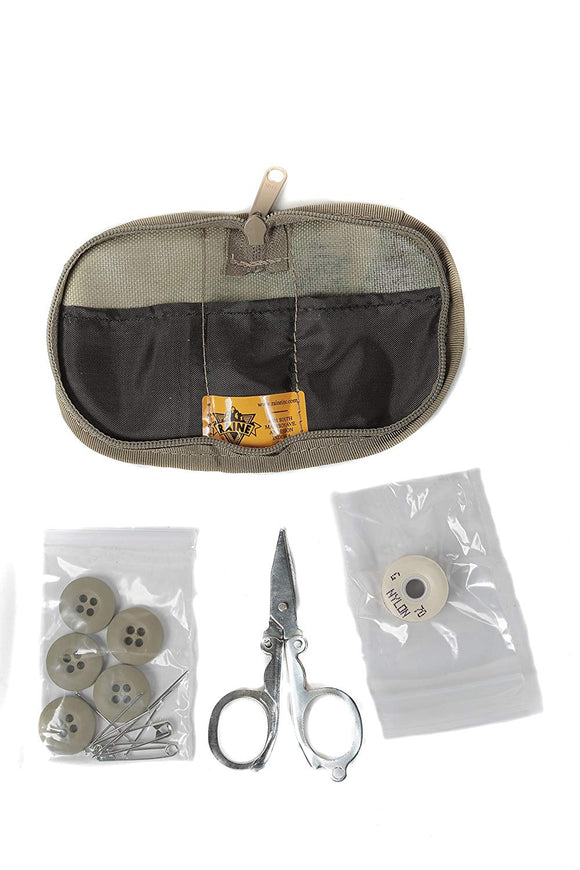 Raine Military Sewing Kit with Scissors - Travel Sewing Kit