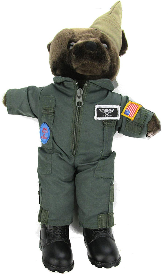Stuffed Plush Teddy Bear in U.S. Navy Flightsuit