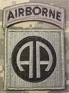 82nd Airborne ACU Patch with Airborne Tab - Foliage Green - Closeout Great for Shadow Box