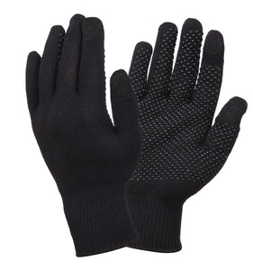 Rothco Touch Screen Gloves With Gripper Dots - BLACK