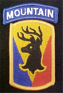 86th Infantry Brigade Combat Team Patch with Mountain Tab
