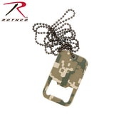 Rothco Dog Tag Bottle Opener With Chain ACU Camo