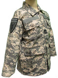 Kid's Army Jacket with Authentic Military Patches - ACU Camo