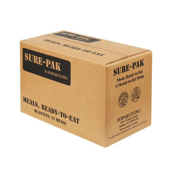 Case of MRE - Sure Pak Complete Meals - 12 per case