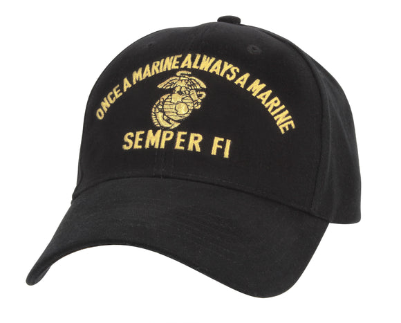 Rothco Marine Semper Fi Low Profile Cap - Once a Marine