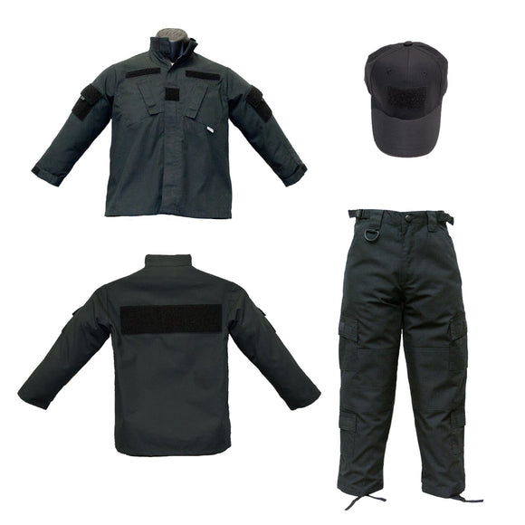 Trooper Youth 3 Piece Black Tactical Uniform