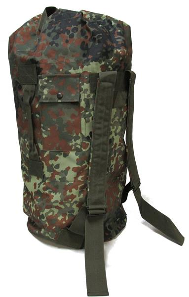 Military Uniform Supply Top Load Duffle Bag 12x26 - FLECKTARN CAMO