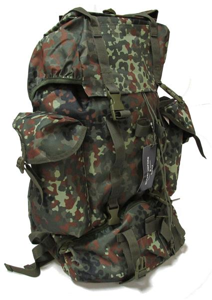 Military Uniform Supply German Army Style Combat Rucksack - FLECKTARN