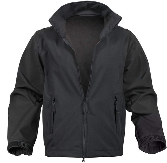Rothco Soft Shell Uniform Jacket - BLACK