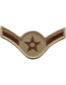 U.S. Air Force Chevrons for Enlisted - Olive Drab Subdued USAF Rank