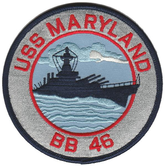 BB-46 U.S.S. Maryland USMC Patch