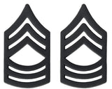 Black Army Metal Pin on Rank - E-8 Master Sergeant