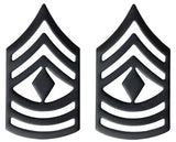 Black Army Metal Pin on Rank - E-8 1st Sergeant