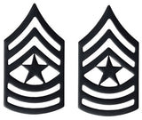 Black Army Metal Pin on Rank - E-9 Sergeant Major