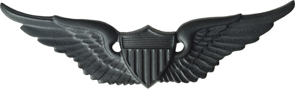 U.S. Army Aviator Badge - Black Metal Pin-On