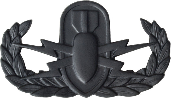 U.S. Army EOD Badge - Black Metal Pin-On