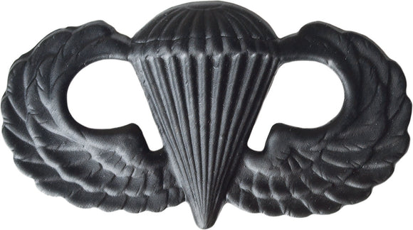 U.S. Army Parachutist Badge - Black Metal Pin-On
