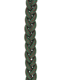 U.S. Army Fourragere - French WWI Shoulder Cord - Green with Red Spots