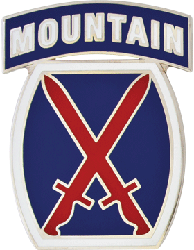 10th Mountain Division CSIB - Army Combat Service Identification Badge