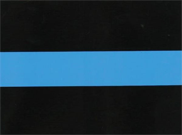Thin Blue Line Decal Sticker 4x3