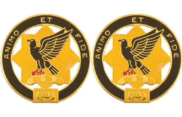 1st Cavalry Regiment Distinctive Unit Insignia - Pair - ANIMO ET FIDE