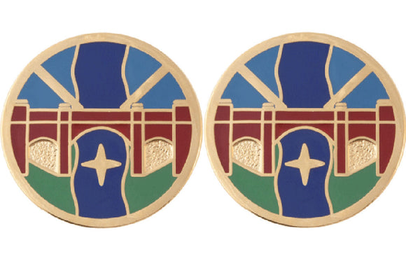 1st Transportation Agency Distinctive Unit Insignia - Pair