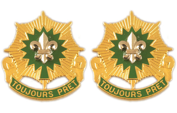 2nd ACR (Armored Cavalry Regiment) Distictive Unit Insignia - Pair - TOUJOURS PRET