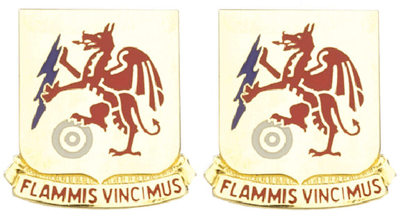 2nd Chemical Battalion Distinctive Unit Insignia - Pair - FLAMMIS VINCIMUS